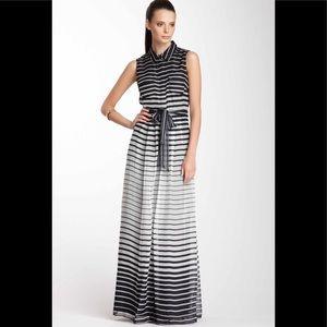 Vince Camuto Sleeveless Shirt Maxi Dress
